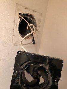 トイレ換気扇から異音!三菱V-08P6をV-08P7に交換です!